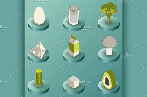 Vegeterian Color Gradient Icons