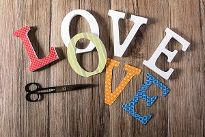 Scrapbook Love background
