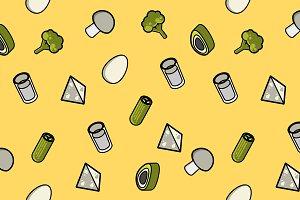 Vegeterian color outline pattern