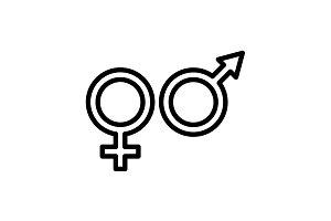 icon. Gender symbol