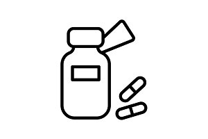 icon. Tablets , Vitamins, Pills
