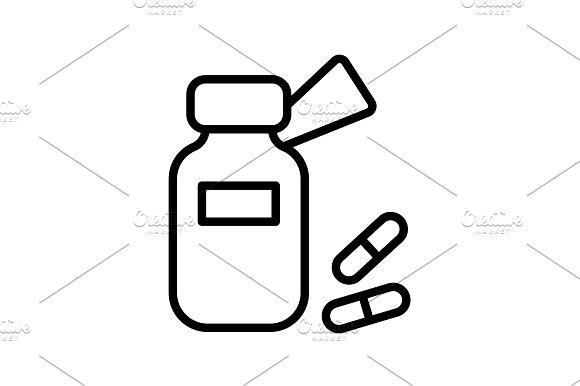 icon. Tablets , Vitamins, Pills