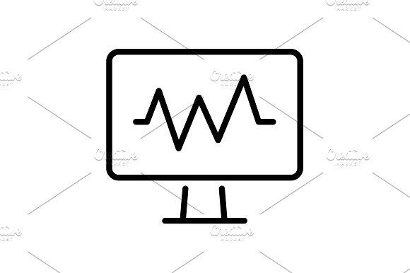 Web line icon. Pulse monitoring.