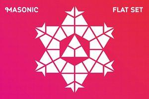 Masonic Flat set