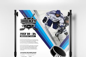 Ice Hockey Poster Template