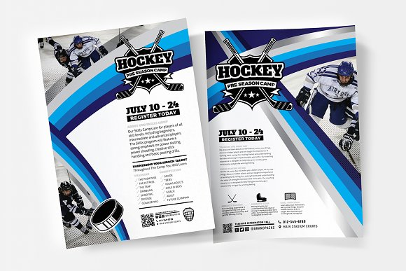 ice hockey advertisement templates flyer templates creative market