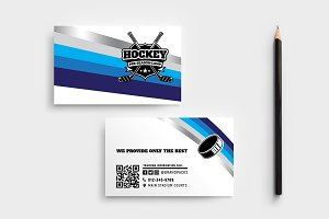 Ice Hockey Business Card Template