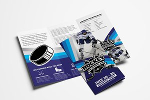 Ice Hockey Trifold Brochure Template