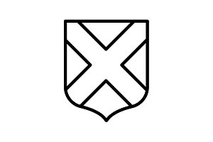 Web line icon. Shield. black