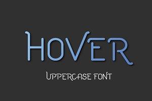 Hover Uppercase Font