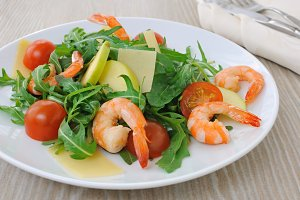Spicy salad of arugula