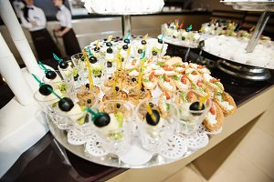 food on wedding reception
