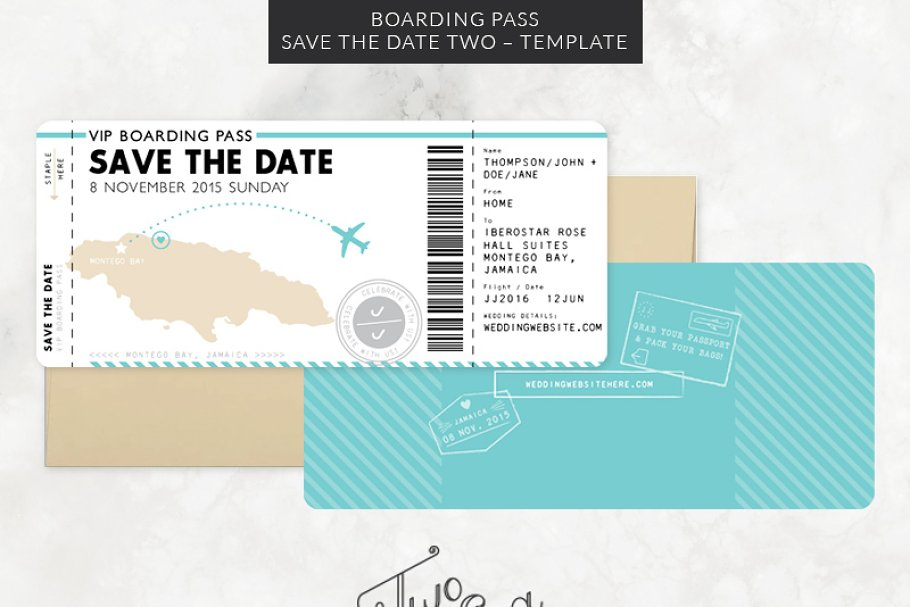 boarding pass sleeve template.html