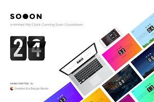 Sooon | Flip Clock Coming Soon Count
