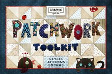 PATCHWORK Effect Photoshop TOOLKIT by Graphic Spirit in Layer Styles