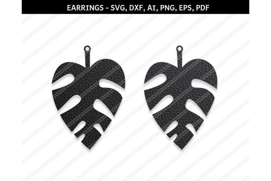 Leaf Earring Svg Dxf Ai Eps Png Pdf Graphic Objects