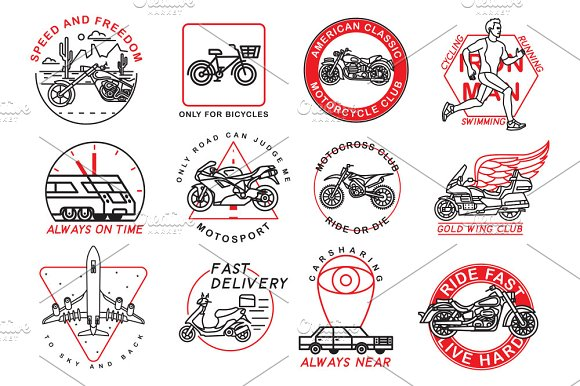 12 Graphic Thematic Emblems