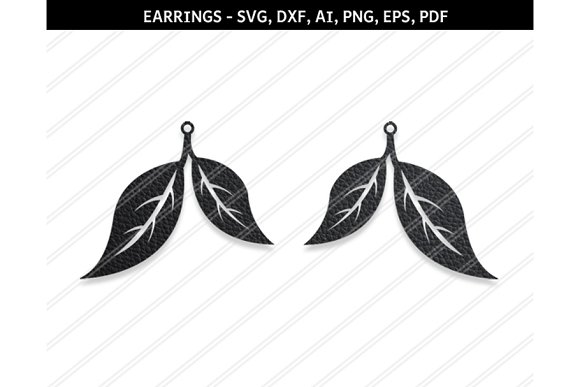 Leaf Earring Svg Dxf Ai Eps Png Pdf