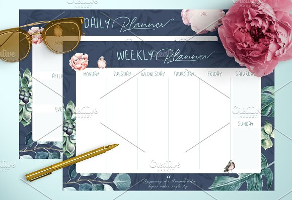 Azalea Daily Weekly Planners