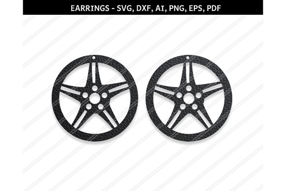 Wheel Earring Svg Dxf Ai Eps Png Pdf