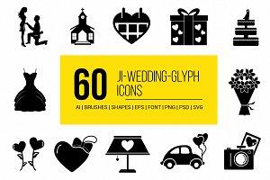 JI-Wedding & Love Vector Icons