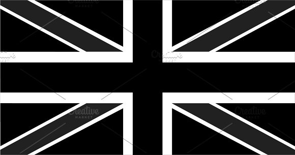 British Flag Black And White