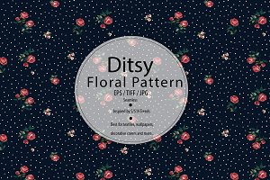 Romantic Ditsy Rose Pattern