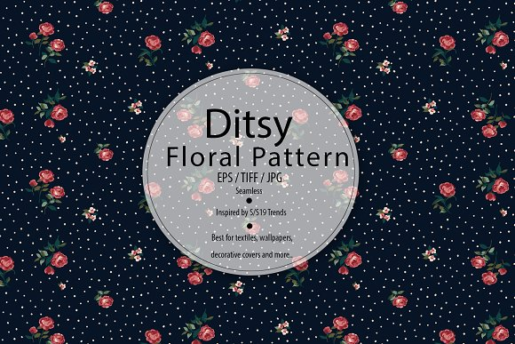 Romantic Ditsy Rose Pattern