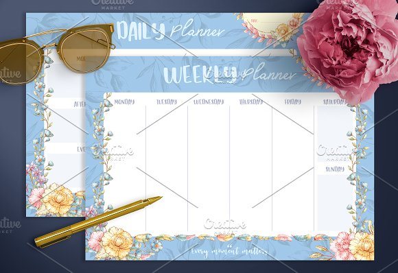 Begonia Daily Weekly Planners