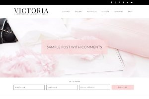Victoria - Feminine WordPress Theme