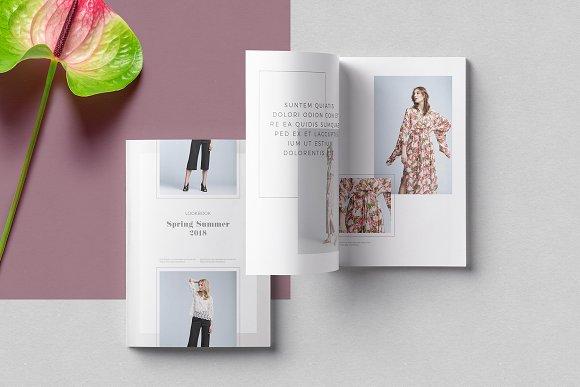 pleuvoir lookbook template brochure templates creative market