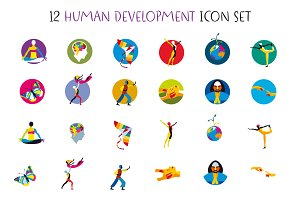 Human Development Icons Set
