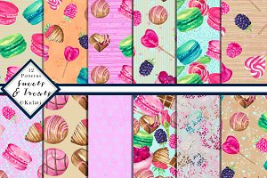Candy / Sweets Digital Patterns