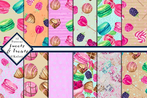 Candy Sweets Digital Patterns