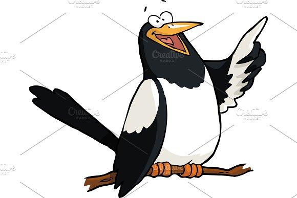 Cartoon Doodle Magpie