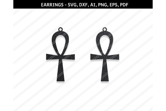 Cross Earring Svg Dxf Ai Eps Png Pdf