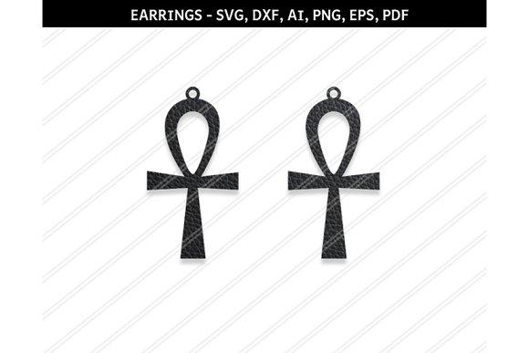 Cross Earring Svg Dxf Ai Eps Png Pdf