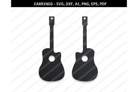 Guitar Earring Svg Dxf Ai Eps Png
