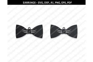 Bow earrings,svg,dxf,ai,eps,png,pdf