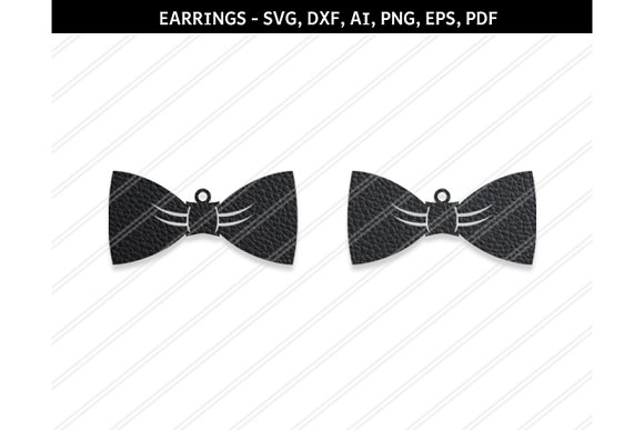 Bow Earrings Svg Dxf Ai Eps Png Pdf