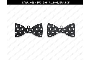 Bow earrings,svg,dxf,ai,eps,png