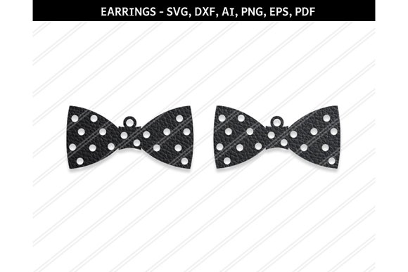 Bow Earrings Svg Dxf Ai Eps Png