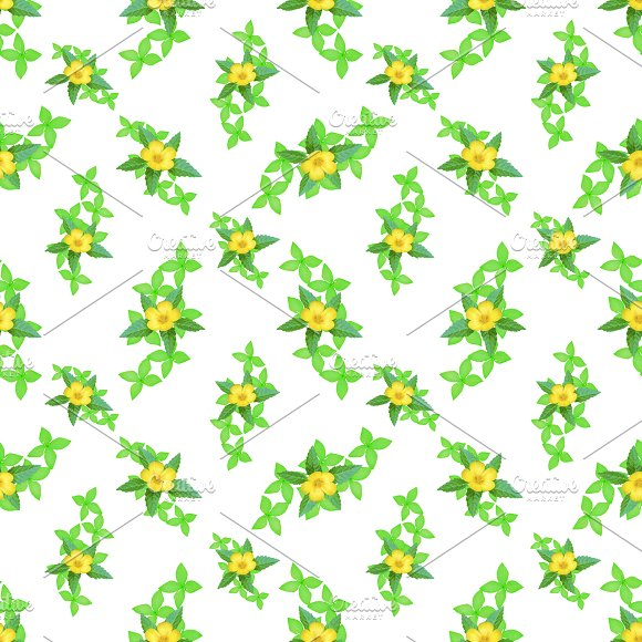 Bright Blooms Seamless Pattern Design