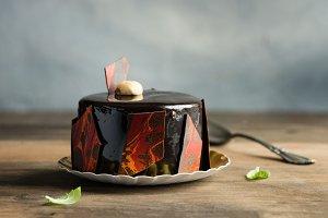 Pastry, dessert, chocolate cake