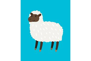 Sheep cartoon icon