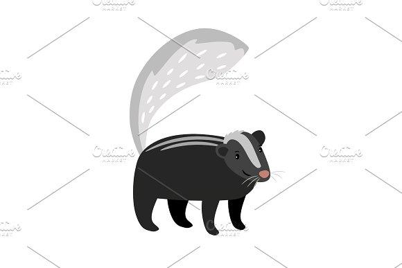 Skunk Cute Cartoon Icon