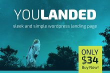 You Landed - Wordpress Landing Page by Quincy Harriman in Landing Page
