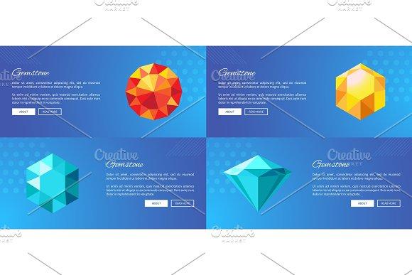 Luxury Gemstones Promotional Internet Posters Set