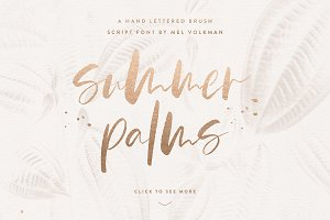 Summer Palms Brush Script Font