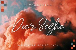 Dear Sasha - Signature Font